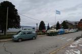 Parade mit Volkswagen T2/Kombis aus Brasilien, Argentinien und Uruguay, in Bariloche