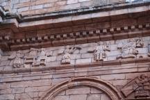 Fresken mit Musikinstrumenten in der Kirchenruine der Jesuitenmission Trinidad, Paraguay. Musik war dort ein wichtiges Instrument bei der Christianisierung der indigenen Völker.